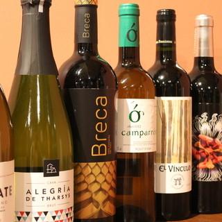 スペインにこだわりビールやワインはすべてスペイン産