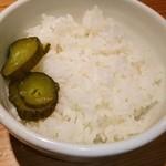 つなぎ - 白米❤ヽ(●´ε`●)ノ 同じ値段で 大・中・小が 選べます! 漬け物サービス❤