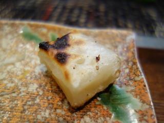 やきとり福住 - 美味しい焼餅(お通し)私が焼きました(笑)