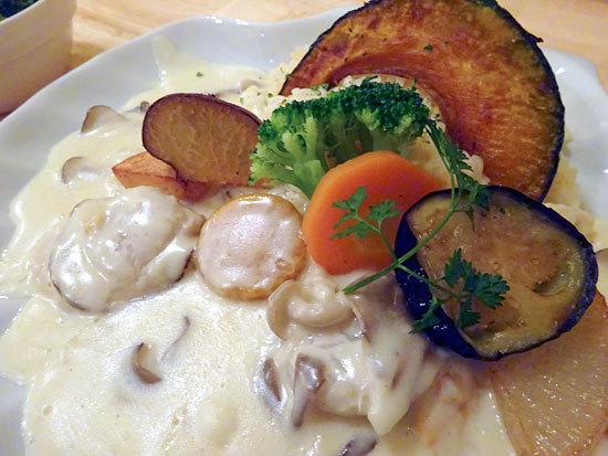 氣くらし - 帆立と野菜のクリーム煮(バターライス付き)1030円