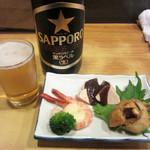 瀧元 - 瓶ビールとお通し