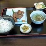 福光 - 豚ハラミ定食(麦飯大盛)