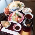 松月   - 天麩羅お造り御膳(税込)2700円
