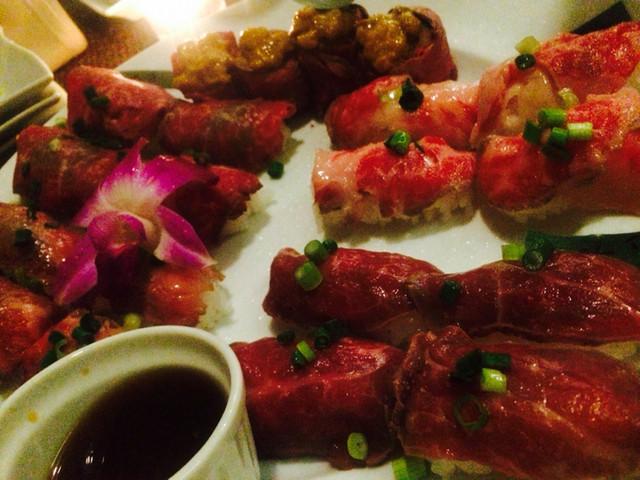 カウラナ コーンバレー - 肉寿司の盛り合わせ
