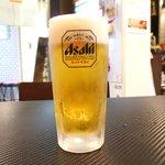 古武士 - <'16/03/13撮影>飲み放題(40分) 300円 の生ビール(アサヒ スーパードライ)