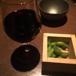 豆腐料理 空野 - お通し  枝豆