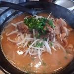 48724398 - 秋刀魚の味噌ラーメンwithこてっちゃん