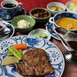 民家レストラン伊萬里亭 - 伊万里牛ステーキ定食