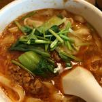 西安刀削麺酒楼 - 担々麺 パクチーが効いています。