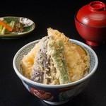 【 穴子野菜天丼 】