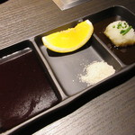 和牛処竜壱 - タレ・塩・ポン酢で頂きます♪
