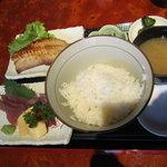 えんざ - えんざの定食「お刺身、焼き魚」