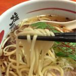 48740513 - 麺持ち上げ~    微妙にボケ…(>人<;)