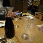 宮崎県日向市 塚田農場 - ◆ 地鶏に合うワイン   デキャンタで