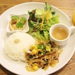 48745238 - 豚肉と牛蒡のスタミナニラ玉炒め!!(。・ω・。)ノ♡