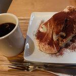 48745776 - ティラミスシフォンケーキとドリップディープコーヒー