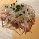 和旬楽 - 蒸し鶏のごま味噌山椒ダレ