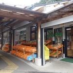 道の駅 ゆふいん - 野菜が店頭にならんでいます