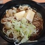 喜多そば - 北海道産ホエー豚の肉豆腐そば 520円