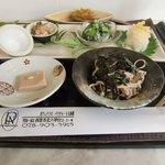 パラクレートス西村 - 和風ランチ、白身魚の梅甘酢あんかけ(1280円)の前菜