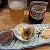 らく天 - 料理写真:中瓶ビール+お通し