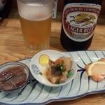 48751263 - 中瓶ビール+お通し