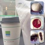 ファミリーマート - 料理写真:つぶあんまん&ホットコーヒー( ̄+ー ̄)