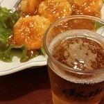 Gansojuuhachiban - エビチリにビール