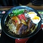 博多麺番長 - ブラック焦がしとんこつ豚2種のせ麺
