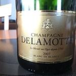 ホテル木暮 - 本日の泡 DELAMOTTE BLANC DE BLANCS 2007