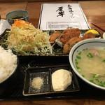 北海道厚岸 - カキフライ定食1000円
