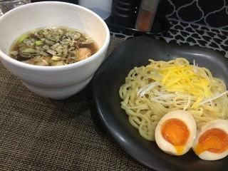 ラーメン 赤青 ムラサキ - 2016.03 味玉つけ麺(柚子で)