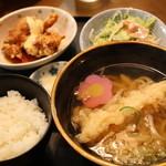 めん道場 - 料理写真:えび天定食