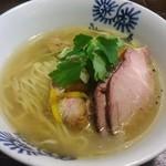 特級鶏蕎麦 龍介 - 鴨そば(塩)+窯焼きチャーシュー