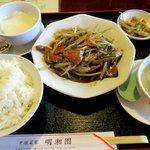 中国菜家明湘園 - ニラレバ定食!(2016,03/13)