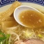 清麺屋 - 鶏魚らーめん(680円)スープ