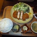 橙 - ロースカツ定食