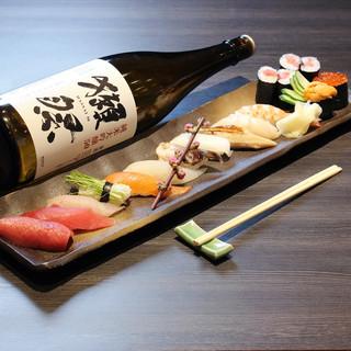 職人が握る寿司!他にも和食・洋食・中華料理と豊富にご用意。
