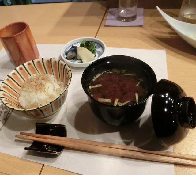 利光 - お代わりした美味しいご飯!お味噌汁と香の物と共に。