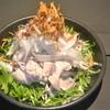 北上産白ゆりポークしゃぶしゃぶとシャキシャキ水菜と豆腐の胡麻だれサラダ