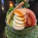 馬家溝 - 料理写真:ボルシチのセットのミニサラダ