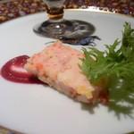 創作料理 宿 - ●前菜は蕪のブランマンジェ、ホタテとパプリカのテリーヌ