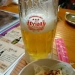 沖縄宮古島料理がちまやー桃太郎 - オリオン生ビール