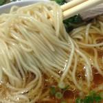 48777006 - 「ラーメン・ライス(ザーサイ付き)」ストレートの細麺