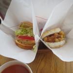 モスバーガー - モス野菜バーガー(340円)海鮮かき揚げ(340円)