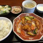 台湾料理台北101 - 酢豚のランチ