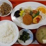 おおいし - 料理写真:日替わり定食 2016.3