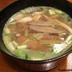 惣門 - 鶏肉と茸の汁物