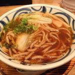 麺や 龍福 - かき混ぜるとこんな感じ。