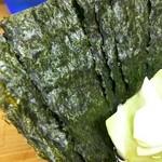 吉田家 - 海苔増しは7枚100円。しっかりした海苔でした。